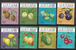 VIETNAM 1975 FRUTTI TROPICALI YVERT. 855-862 USATA VF - Viêt-Nam