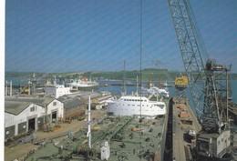 Postcard Falmouth Docks Cornwall [ Shipping Interest ] My Ref  B23346 - Falmouth