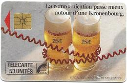 Telecarte 50 - Kronenbourg - Alimentation