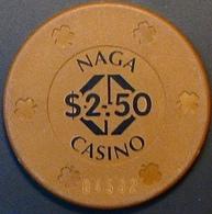 $2.50 Casino Chip. Naga World, Phnom Penh, Cambodia. N41. - Casino