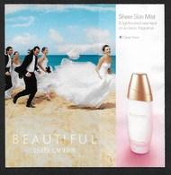 F- Carte à Rabat 5x5 LAUDER   - Beautiful -  Perfume Card - USA - Perfume Cards