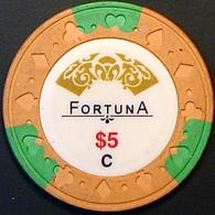 $5 Casino Chip. Fortuna, Sihanoukville, Cambodia. N41. - Casino