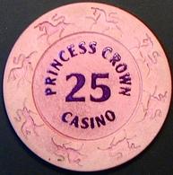$25 Casino Chip. Crown Princess, Poipet, Cambodia. N41. - Casino