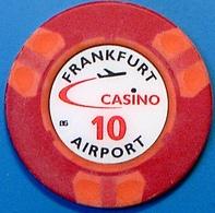 DM10 Casino Chip. Frankfurt Airport, Frankfurt, Germany. N42. - Casino