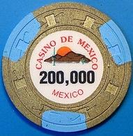 P200,000 Casino Chip. Casino De Mexico, Mexico. N42. - Casino