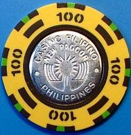 P100 Casino Chip. Pagcor-Casino Filipino, Manila, Philippines. N42. - Casino