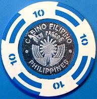 P10 Casino Chip. Pagcor-Casino Filipino, Manila, Philippines. N42. - Casino