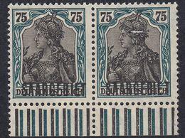 SAAR - SARRE - 1920 - Coppia Di Yvert 45 Nuovo MNH Di Cui Uno Con Un Minuscolo Foro E Margine Di Foglio. - 1920-35 Saargebiet – Abstimmungsgebiet