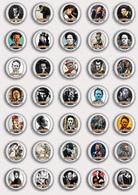 35 X Tom Waits Music Fan ART BADGE BUTTON PIN SET 2 (1inch/25mm Diameter) - Music