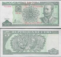 Cuba 2002 - 5 Pesos - Pick 116e UNC - Cuba