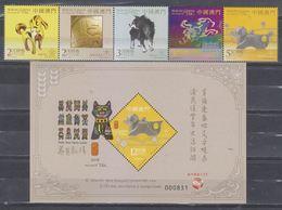Macau/Macao 2018 Zodiac/Year Of Dog (stampss 5v+ SS/Block) MNH - 1999-... Région Administrative Chinoise