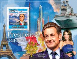 Guinea Bissau 2011 French Presidents  De Gaulle Concorde - Guinea-Bissau