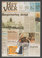 "CARTE MAXIMUM DE BELGIQUE - 100EME ANNIVERSAIRE DU JOURNAL ""HET VOLK"" - Timbres"