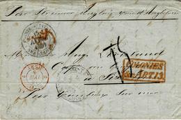 1851- Lettre De Pointe à Pitre ( Guadeloupe ) Pour Six-Fours -voie Anglaise  COLONIES / &c.ART.13 Taxe 15 D Tampon - Storia Postale