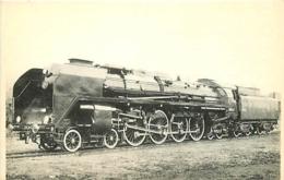 Thème Train Locomotive 242 A 1 Saint- Chamond Locomotives De L'Ouest CP Ed. H.M.P. N° 367 Locomotive Vapeur - Treni
