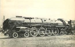 Thème Train Locomotive 242 A 1 Saint-Chamond Locomotives De L'Ouest CP Ed. H.M.P. N° 368 Locomotive Vapeur - Treni