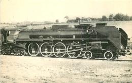 Thème Train Locomotive 242 A 1 Saint Chamond Locomotives De L'Ouest CP Ed. H.M.P. N° 369 Locomotive Vapeur - Treni