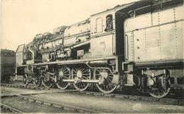 Thème Train Machine 4701 Paris-Ivry Locomotives Du Sud-Ouest (ex P.O) CP Ed. H.M.P. N° 409B Locomotive Vapeur - Trains