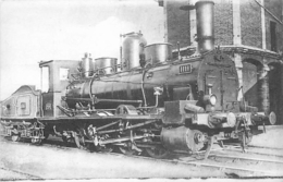 Thème Train Machine 1111 Région Sud-Ouest (ex P.O.) CP Ed. H.M.P. N° 411 Locomotive Vapeur - Trains