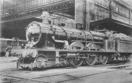 Thème Train Machine 1911 Bordeaux ST Jean Locomotives Du Sud-Ouest (ex Midi) CP Ed. H.M.P. N° 430 Locomotive Vapeur - Trains