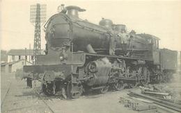 Thème Train Machine 4264 Etampes Locomotives Du Sud-Ouest (ex P.O) CP Ed. H.M.P. N° 448 Locomotive Vapeur - Trains