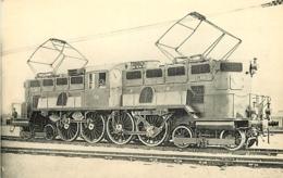 Thème Train Machine  E.401 Ganz Locomotives Du Sud-Ouest (ex P.O) CP Ed. H.M.P. N° 463 - Trains