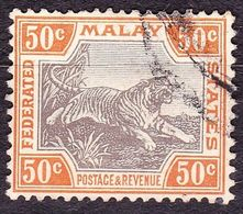 MALAYA 1900 50 Cents Grey & Orange-Brown SG22a Used - Malayan Postal Union