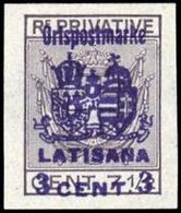 1918, Österreich Feldpost Italien örtliche Zustellmarken, III LA - Österreich