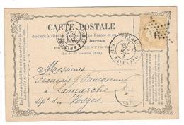 13081 - étoile 16 S/carte Précurseur - 1849-1876: Klassik