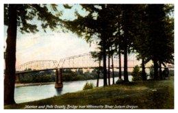 Oregon Salem , Marion And Polk County Bridge Over Willamette River - Eugene