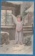 Petit  Ange  De Noel  1902  Par Illustrateur : ?  : Très Très Bon état : Y  F 533 - Anges