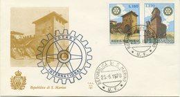 SAN MARINO - FDC ALA 1970 - ROTARY - FDC