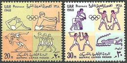 ** Egypt - 1968 - Olympic Games 1968 - Mi. 896-7 - Estate 1968: Messico