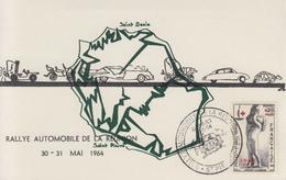 Carte  REUNION  Rallye  Automobile  De  La  REUNION    SAINT  PIERRE   1964 - Automobile