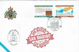 FDC SAN MARINO 1999 UPU UNIONE POSTALE UNIVERSALE - UNION POSTALE UNIVERSELLE - UPU (Unión Postal Universal)