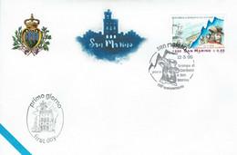 FDC SAN MARINO 1999 SCAMPO DI GARIBALDI A SAN MARINO - EVASION - Celebridades