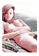 ART PRINT Of Nude Young Woman - Altre Collezioni