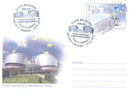 2019. Moldova, 50y Of European Court Of Human Rights, Prep. Envelope, FDC, Mint/** - Moldavie