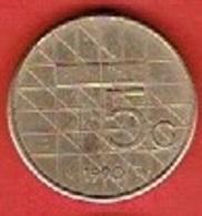 NETHERLANDS  # 5 GYLDEN FROM 1990 - [ 3] 1815-… : Kingdom Of The Netherlands
