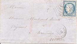 """MARNE (49) LSC De HEILTZ-LE-MAURUPT GC 1778 Sur CERES Pour SERMAIZE + """" J2"""" +  AMBULANT - 1849-1876: Klassik"""