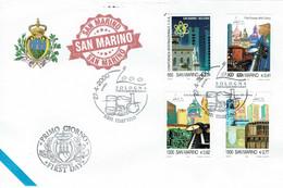 FDC SAN MARINO 2000 BOLOGNA CITTÁ EUROPEA DELLA CULTURA - BOLOGNE VILLE CULTURE EUROPEENNE - Culturas