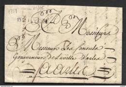 Lettre Avec Marque DELYON (Lenain N°16)-Pour Arles - Marcophilie (Lettres)