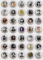 35 X Tom Waits Music Fan ART BADGE BUTTON PIN SET 4 (1inch/25mm Diameter) - Music