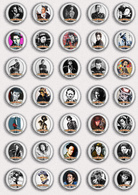 35 X Tom Waits Music Fan ART BADGE BUTTON PIN SET 3 (1inch/25mm Diameter) - Music
