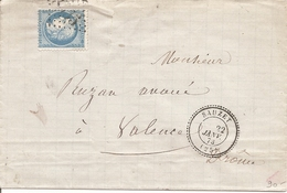 DROME (25) ENV De SAUZET (PERLE) GC 3335 Sur CERES Pour VALENCE - 1849-1876: Klassik