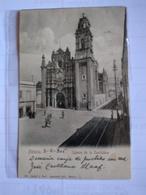 México Iglesia De La Santísima Postcard 1906 Postally Used To Bolivia Church Tramway Lines Animated - Mexico