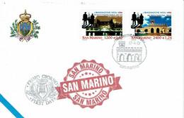 FDC SAN MARINO 2001 L'EMIGRAZIONE NEGLI USA - L'EMIGRATION AUX USA - ELLIS ISLAND - Timbres