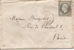 SEINE ET MARNE (73) ENV OBLI MEAUX  PC 1947 Sur NAP Pour PARIS - 1849-1876: Klassik