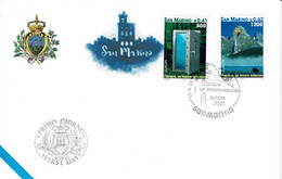 FDC SAN MARINO 2001 EUROPA L'ACQUA UN TESORO NATURALE - L'EAU UN TRESOR NATUREL - Europa-CEPT