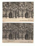LONDRES - LONDON - LOT 2 CPA -  LE PARLEMENT ENTREE DES LORDS - CARTE STEREOSCOPIQUE - Houses Of Parliament